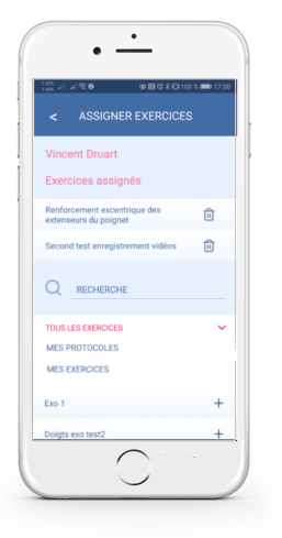 Assigner des exercices